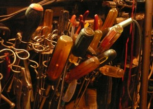 Harvey Knox's shop tools.