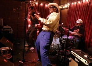 Little Freddie King performing at d.b.a. in New Orleans' Marigny district.